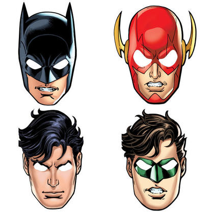 Justice League 8 Party Masks For Birthday Party