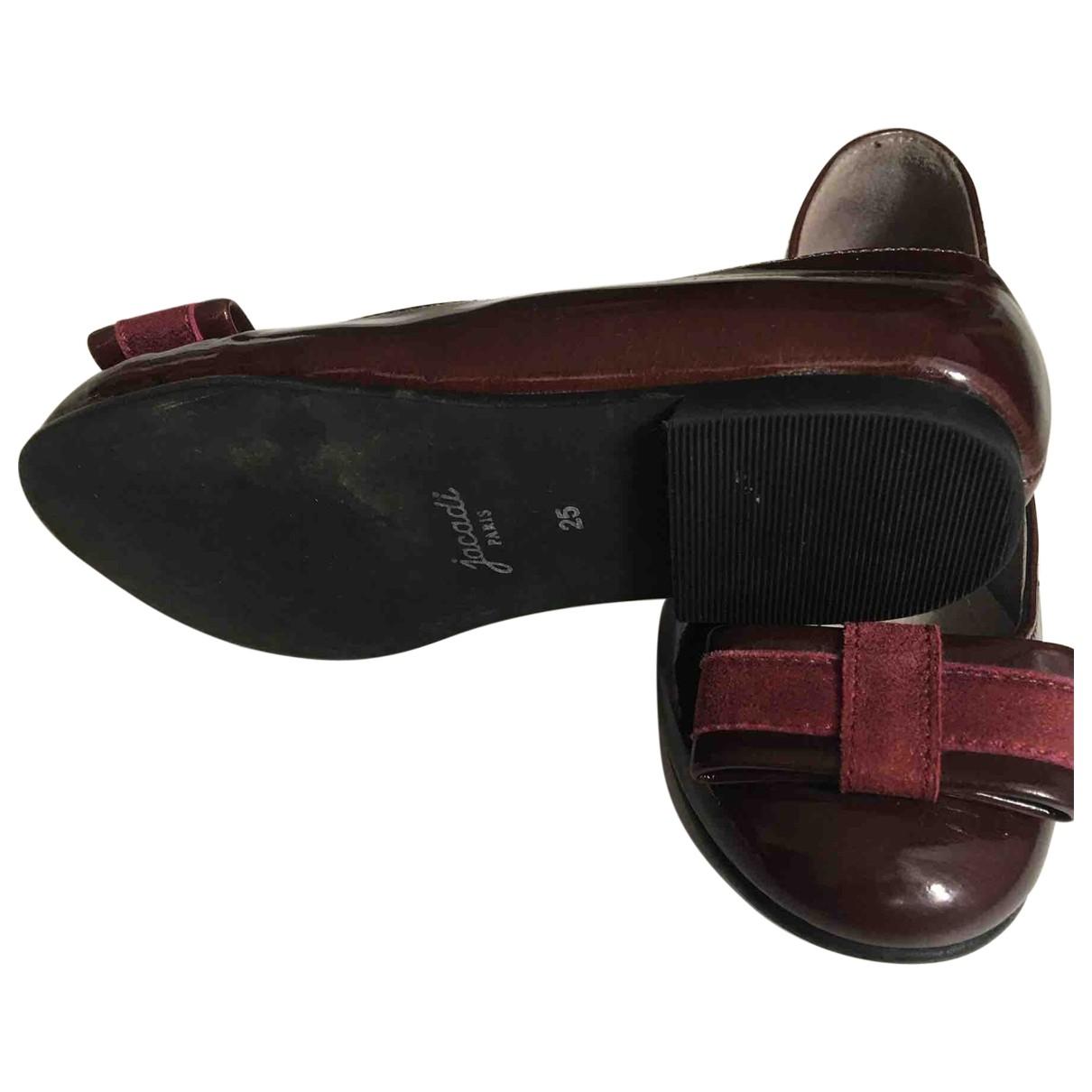 Jacadi \N Burgundy Patent leather Ballet flats for Kids 25 EU