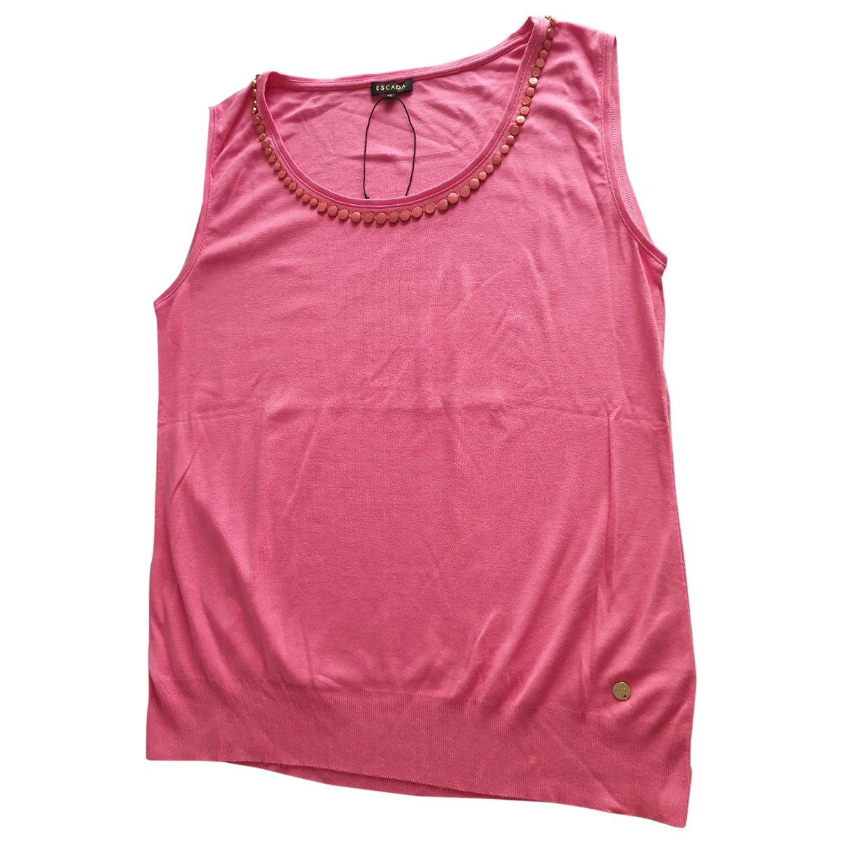 Escada N Pink Cotton  top for Women XL International