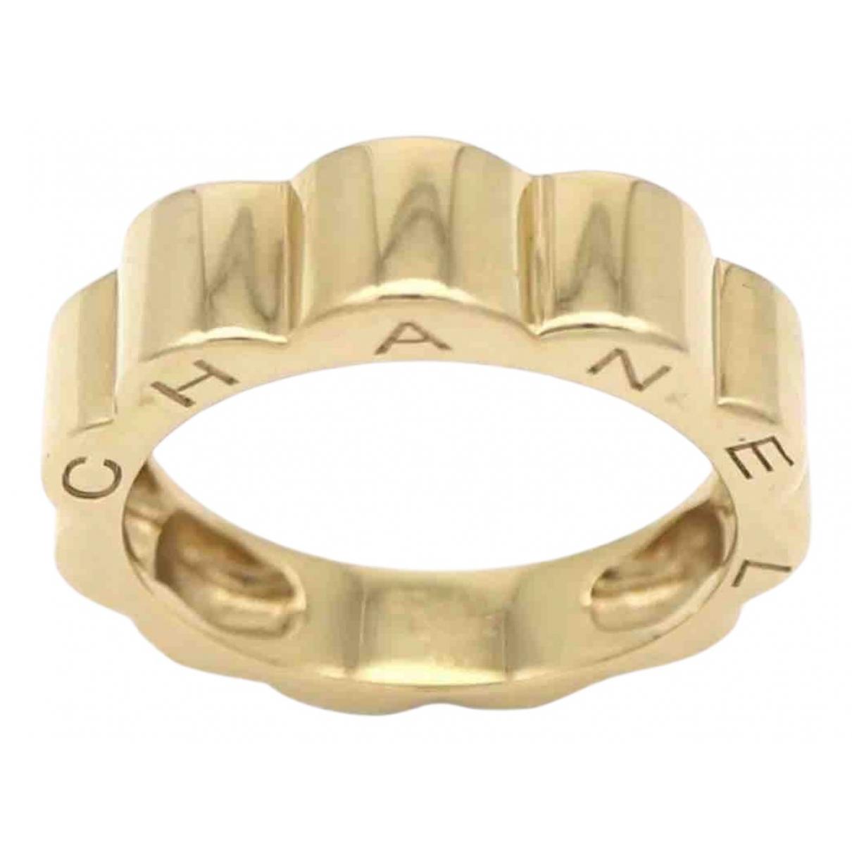 Chanel Camélia Gold Yellow gold ring for Women 48 EU