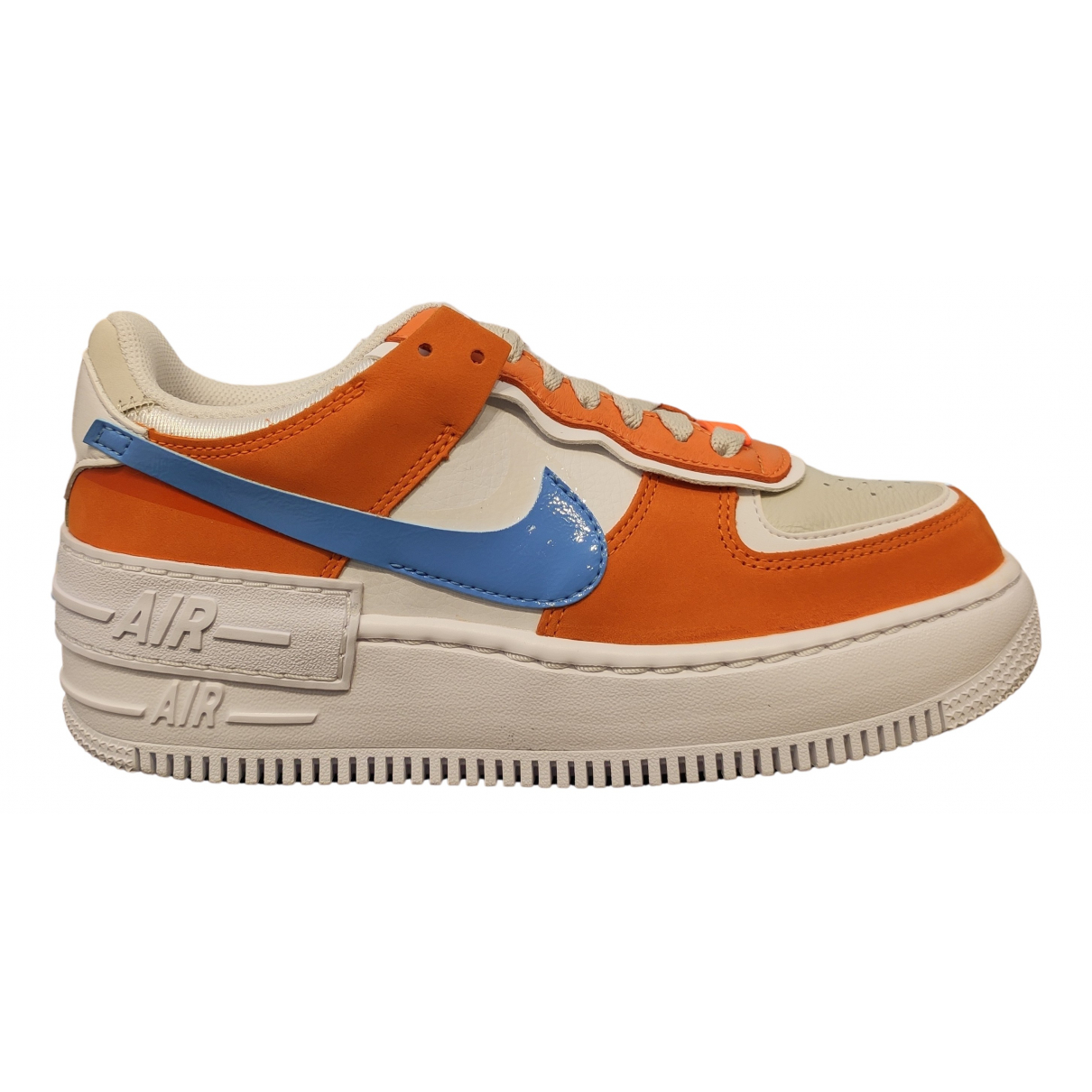 Nike Air Force 1 Orange Suede Trainers for Women 38 EU
