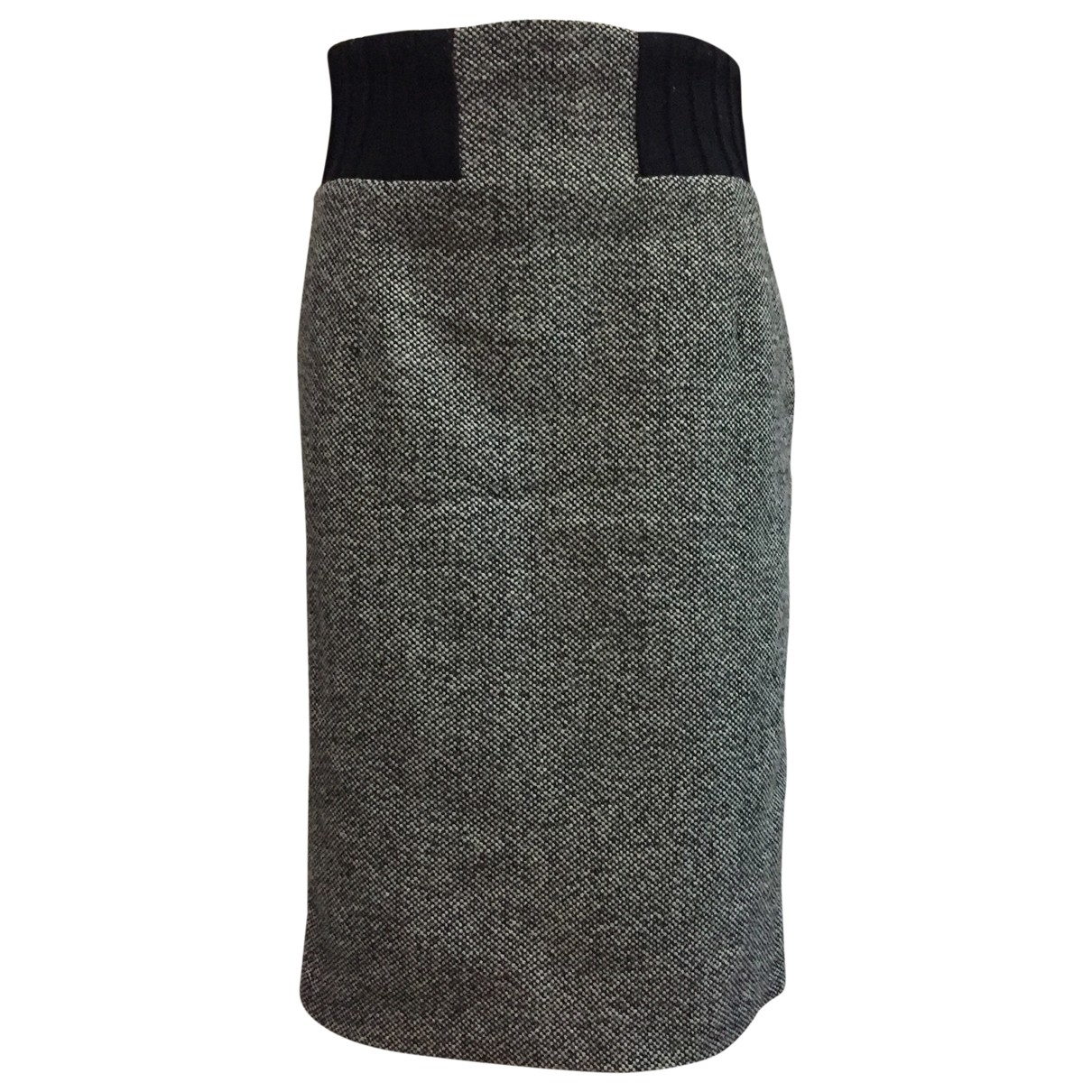 Zara - Jupe   pour femme en tweed - gris