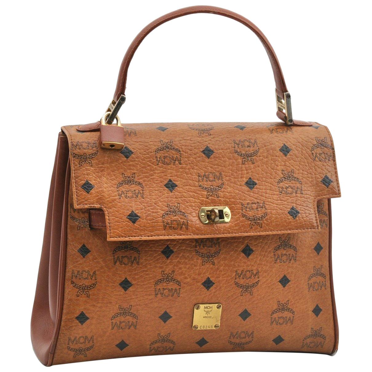 Mcm N Brown Leather handbag for Women N