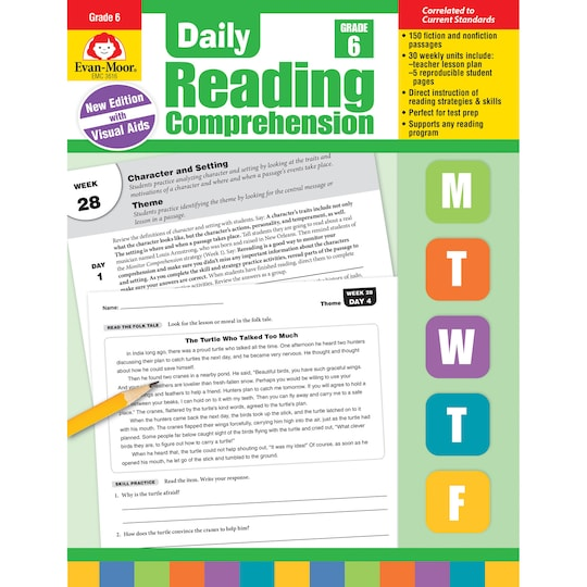Daily Reading Comprehension, Grade 6 By Evan-Moor Educational Publishers   Michaels®