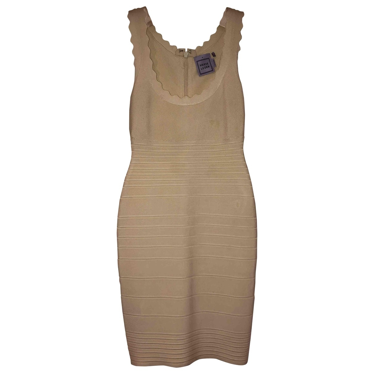 Herve Leger \N Beige dress for Women M International