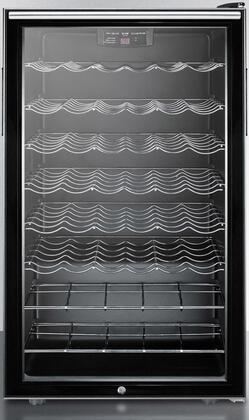 SWC525LHHADA Freestanding ADA Compliant Glass Door Wine Cellar with 40 Bottles Capacity  6 Wine Shelves  Horizontal Handle  Automatic Defrost and