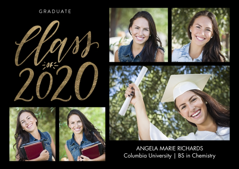 2020 Graduation Announcements 5x7 Cards, Premium Cardstock 120lb, Card & Stationery -2020 Shining Year by Tumbalina