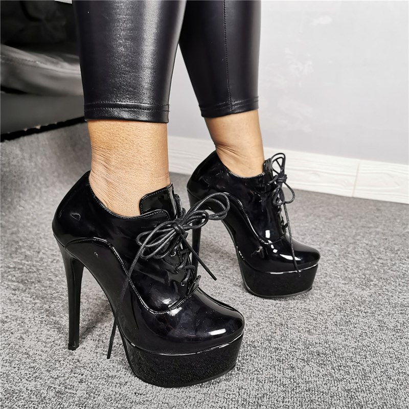 Ericdress Lace-Up Front Round Toe Ankle Boots