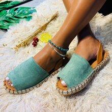 Suede Slingback Espadrille Sandals