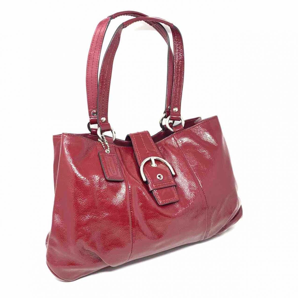 Coach \N Handtasche in  Rot Lackleder