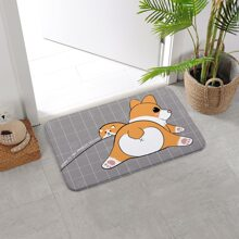 Cartoon Dog Print Floor Mat