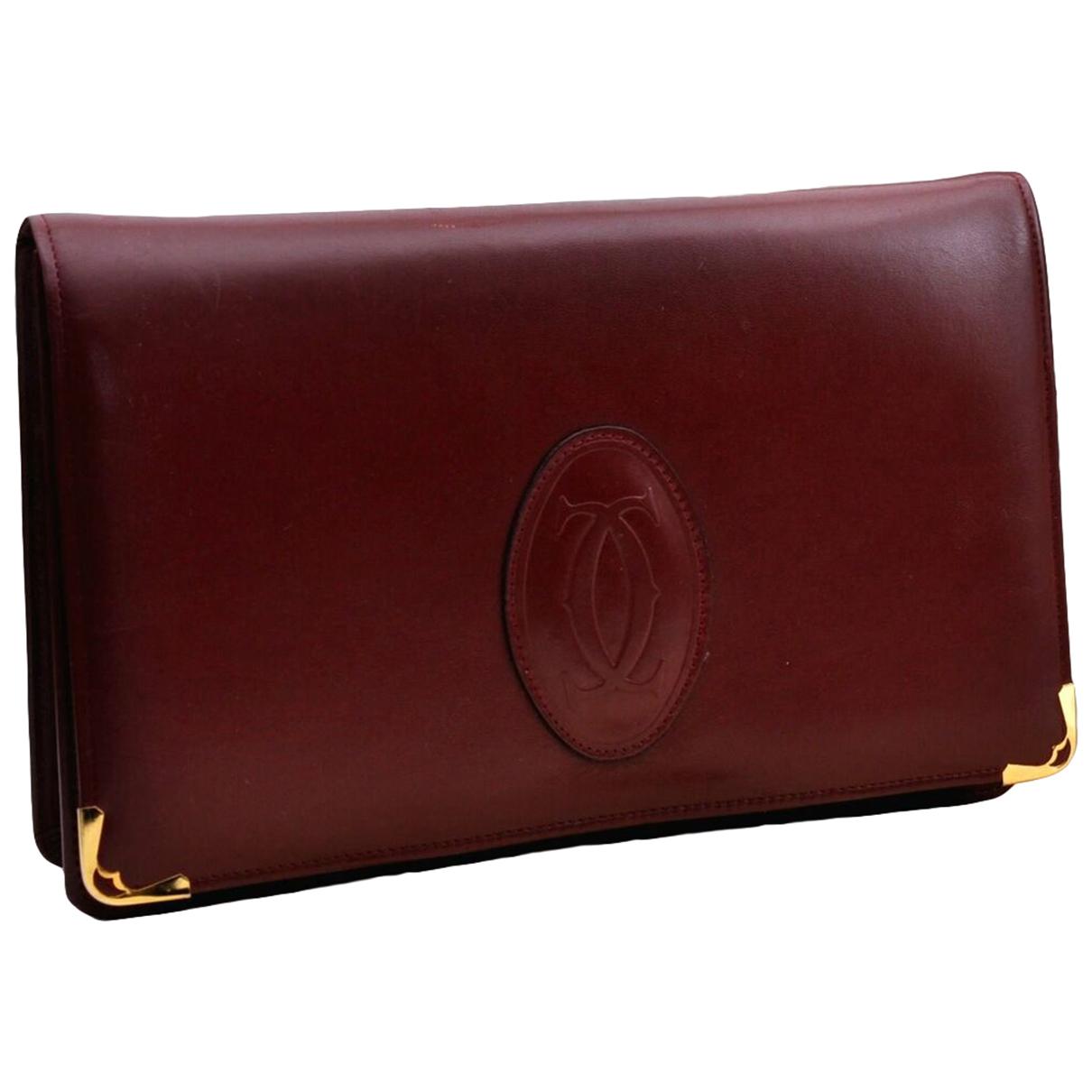 Cartier - Pochette   pour femme en cuir - bordeaux