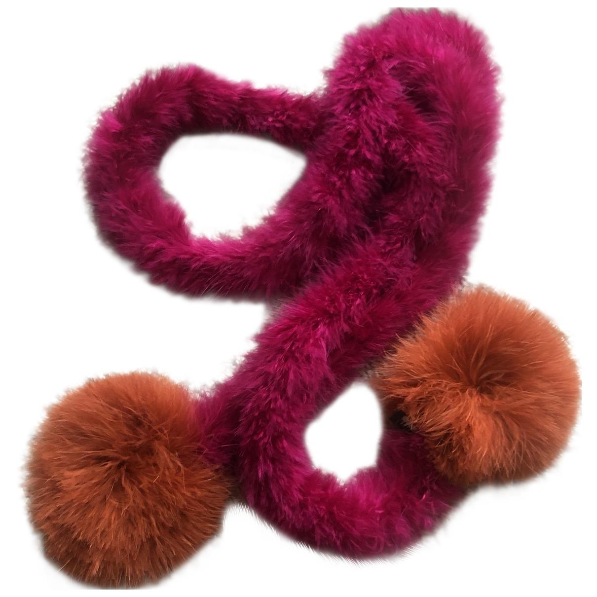 Miu Miu - Foulard   pour femme en fourrure - multicolore