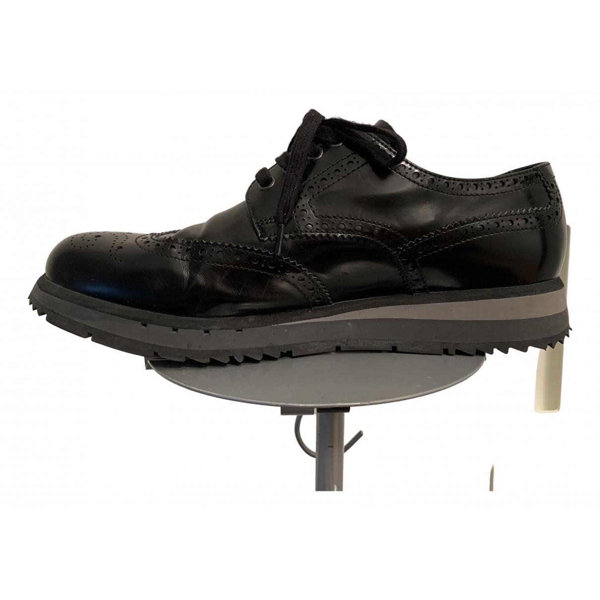 Prada \N Black Leather Lace ups for Men 8.5 UK