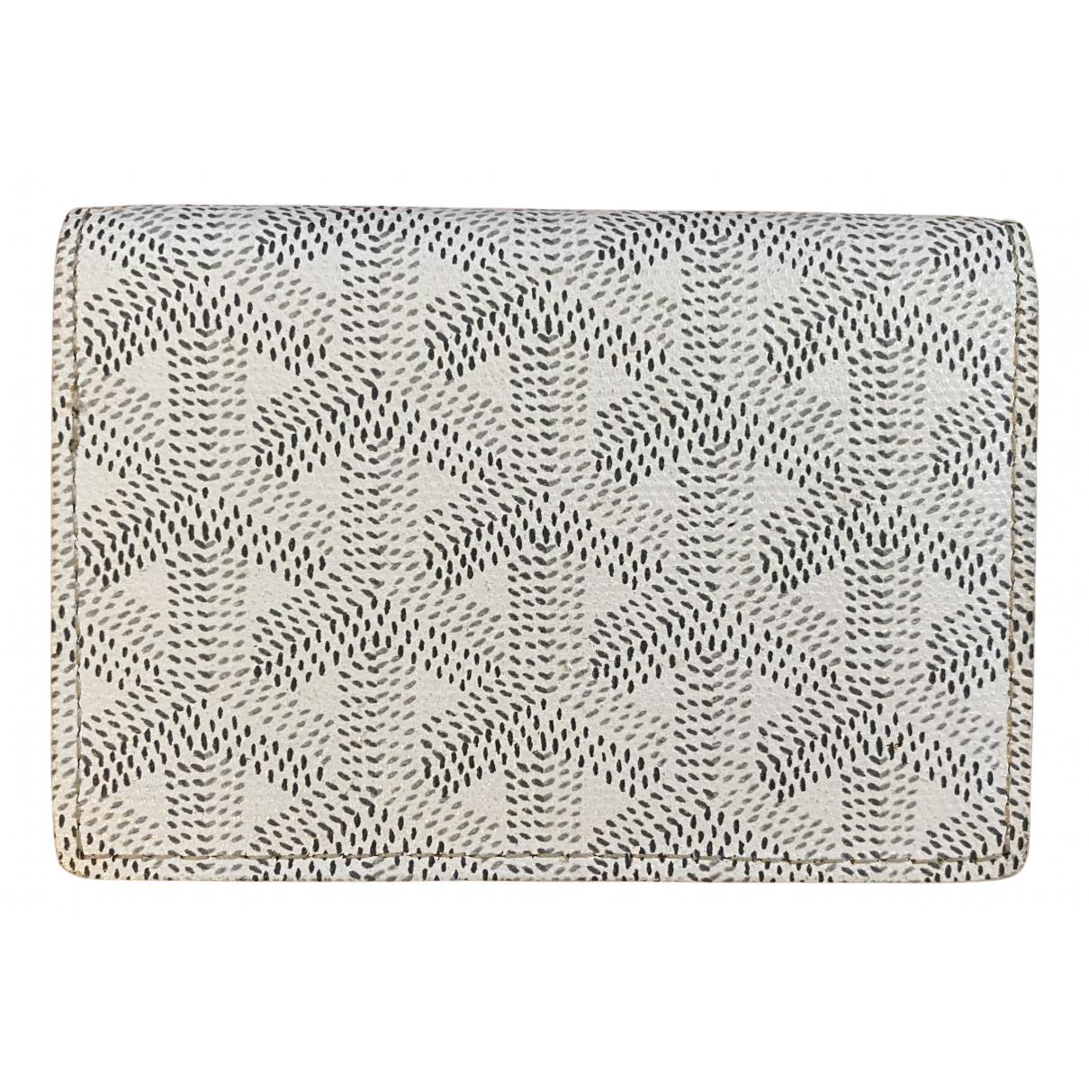 Goyard - Portefeuille   pour femme en toile - blanc