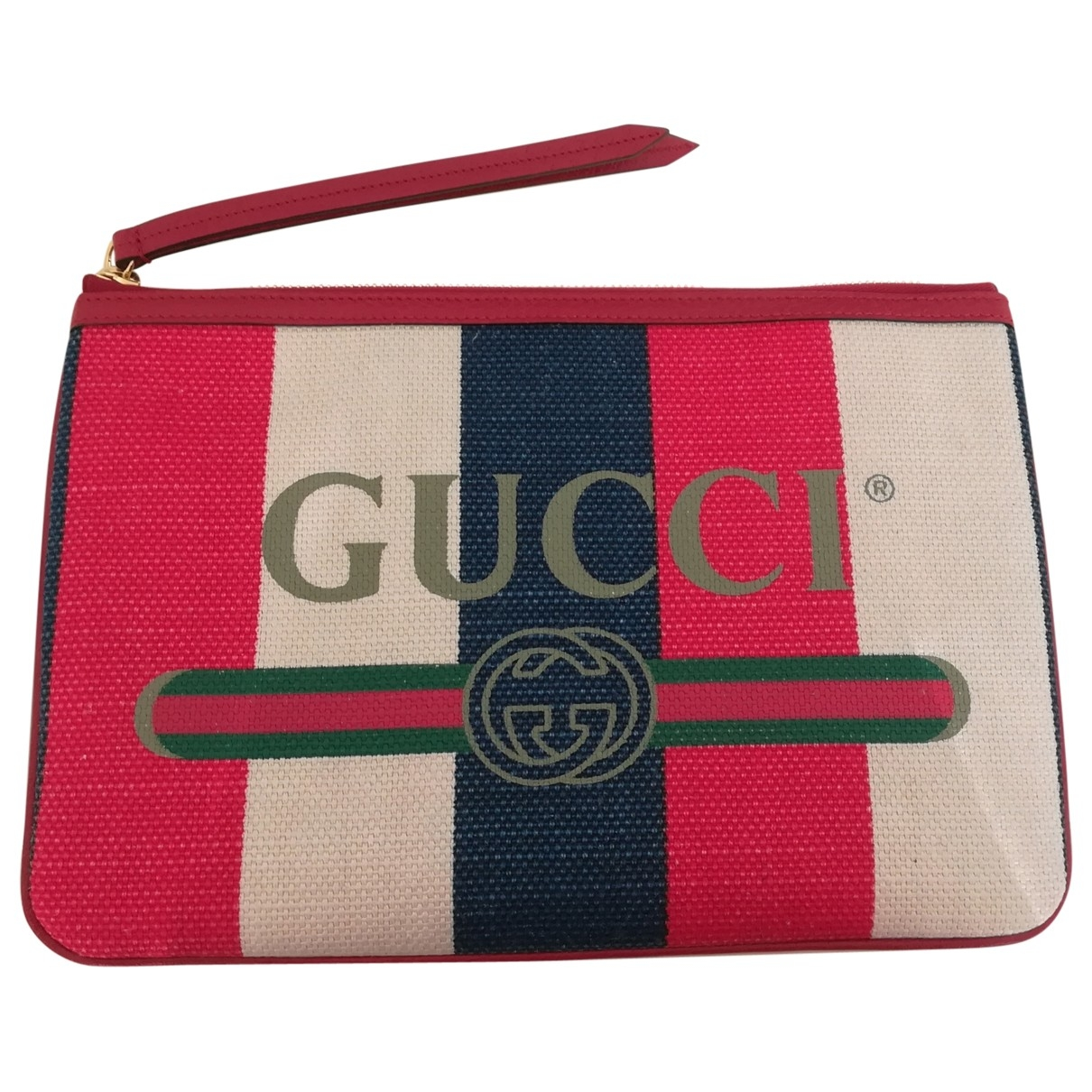 Gucci \N Red Linen Clutch bag for Women \N