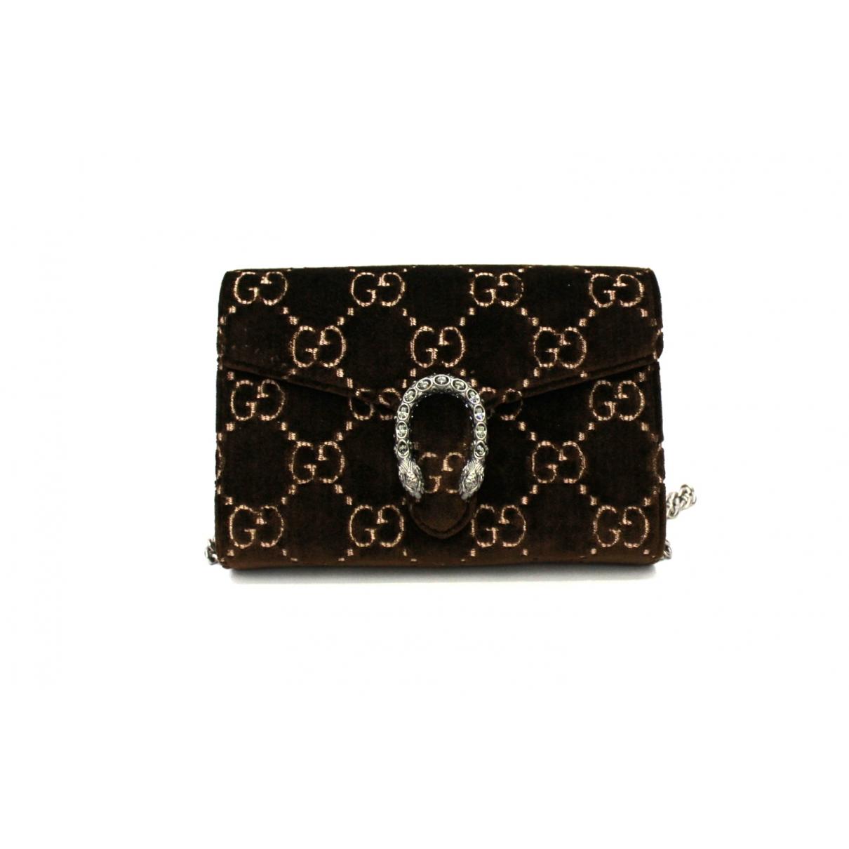 Gucci Dionysus Brown Velvet handbag for Women \N