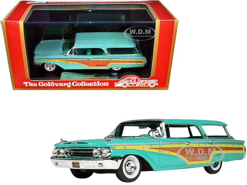 1960 Mercury Country Cruiser Crystal Turquoise Limited Edition to 215 pieces Worldwide 1/43 Model Car by Goldvarg Collection