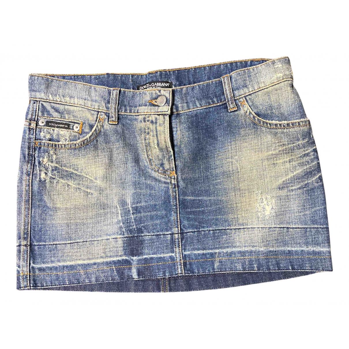 Dolce & Gabbana \N Rocke in  Blau Denim - Jeans