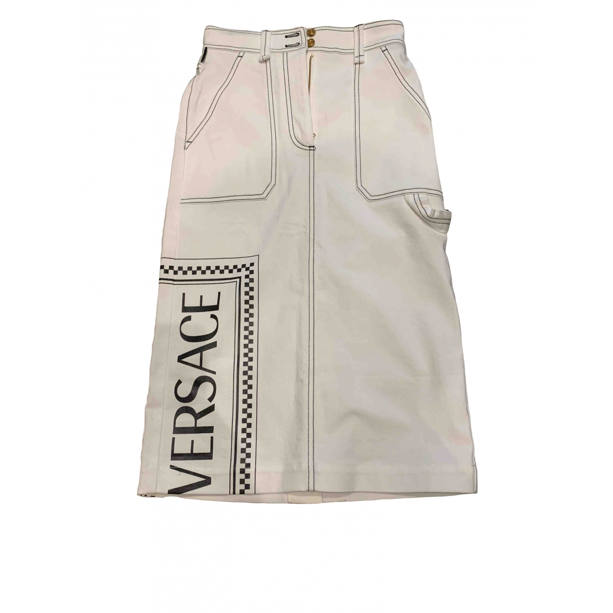 Falda midi Versace