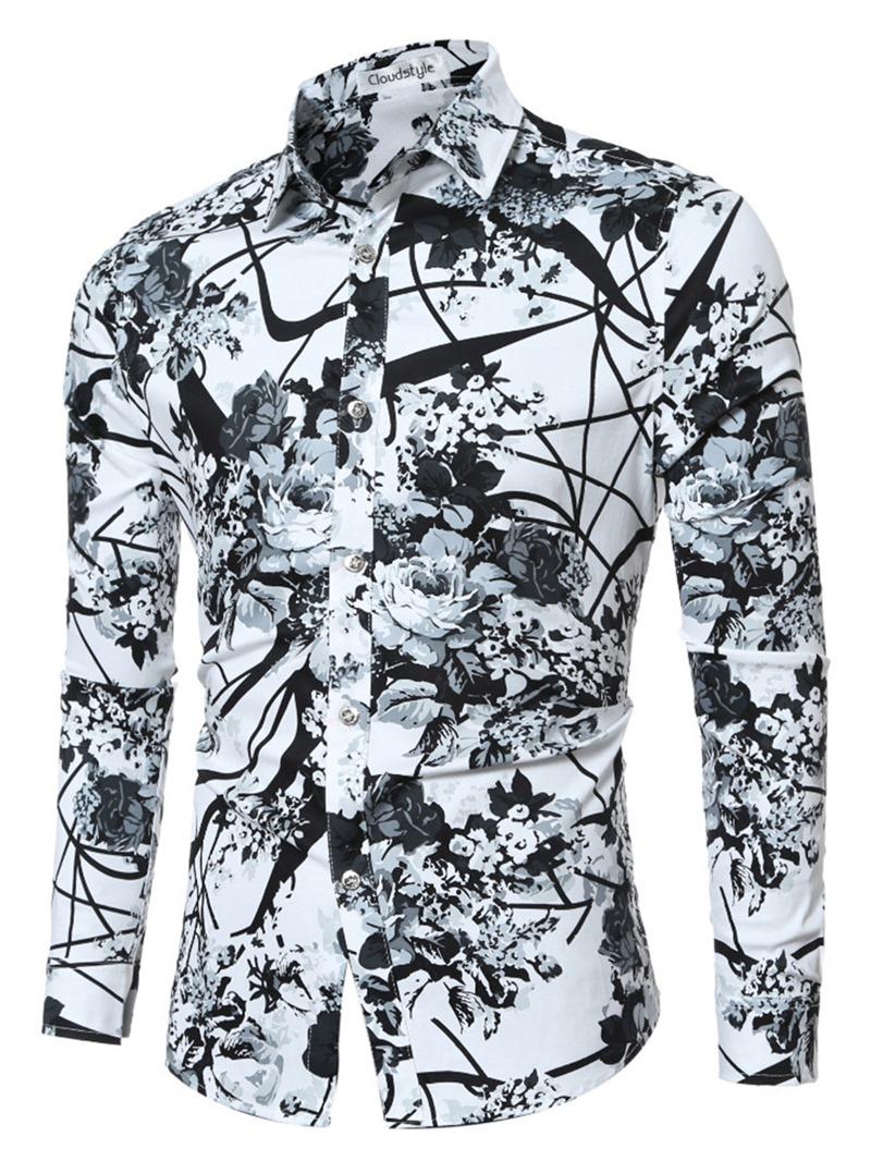 Ericdress Quality Vogue Print Slim Men's Shirt