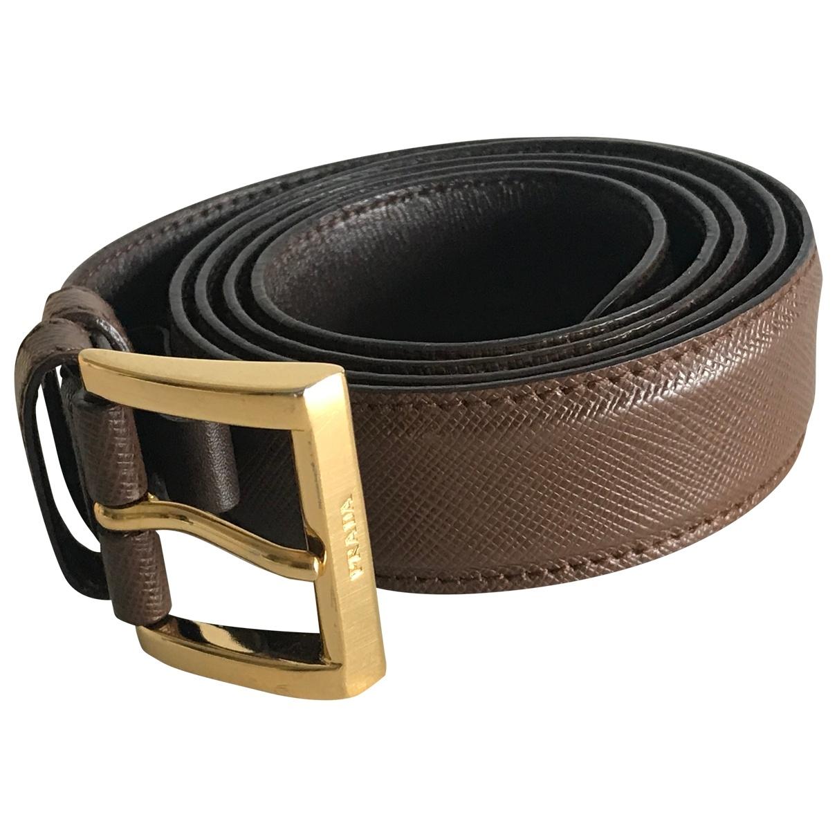 Prada \N Camel Leather belt for Women 95 cm