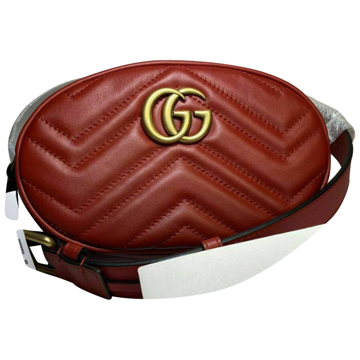Gucci Marmont Clutch in  Rot Leder