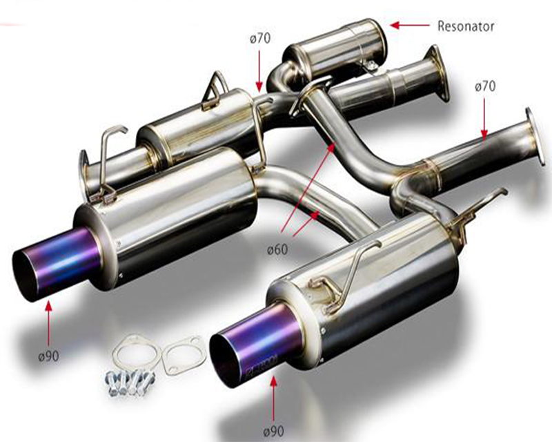 Toda 18000-AP1-702 70mm High Power Exhaust System (Ver. 2)  Honda S2000