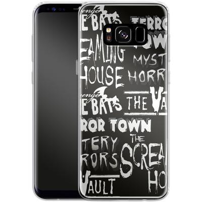 Samsung Galaxy S8 Silikon Handyhuelle - Terror Town Patterns von caseable Designs