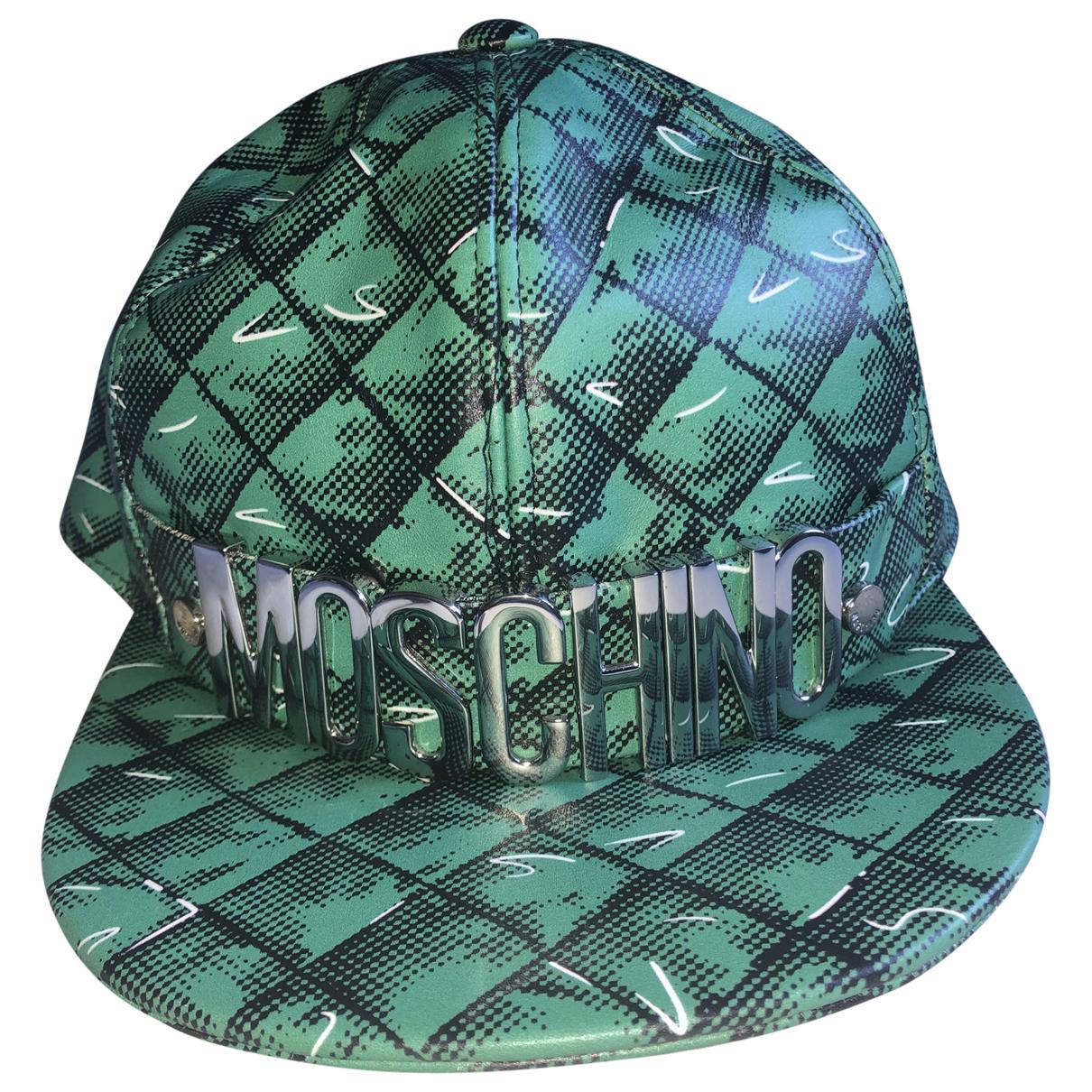 Sombrero / gorro de Cuero Moschino