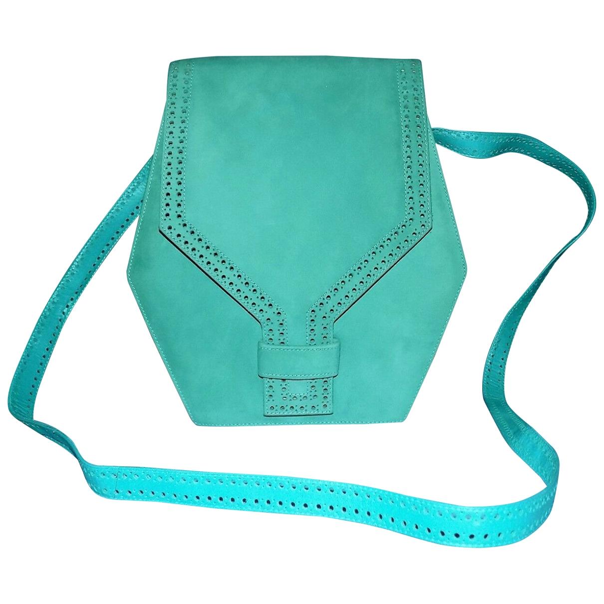 Charles Jourdan \N Green Suede handbag for Women \N