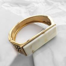 Marble Pattern Wide Bracelet