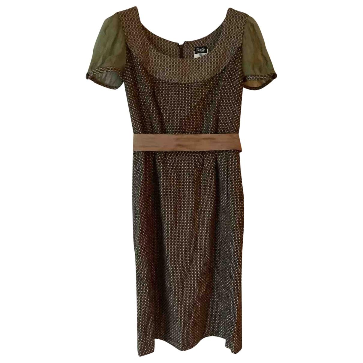 D&g - Robe   pour femme en laine - marron