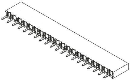 Samtec , BCS 2.54mm Pitch 20 Way 1 Row Straight PCB Socket, Through Hole, Solder Termination