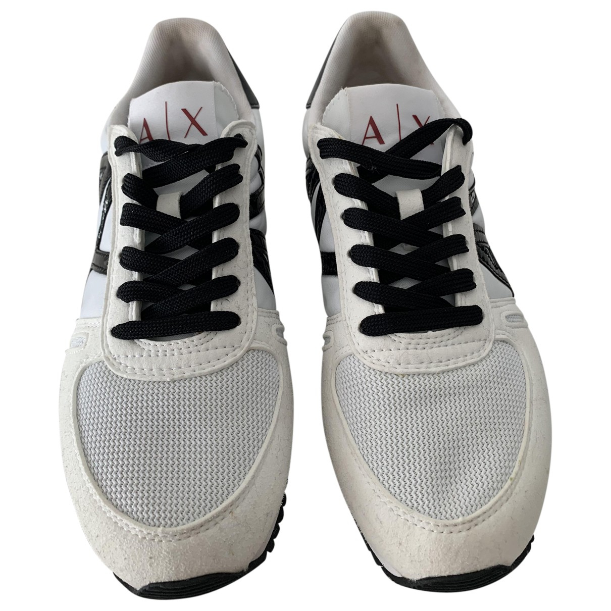 Emporio Armani \N Sneakers in  Weiss Leinen