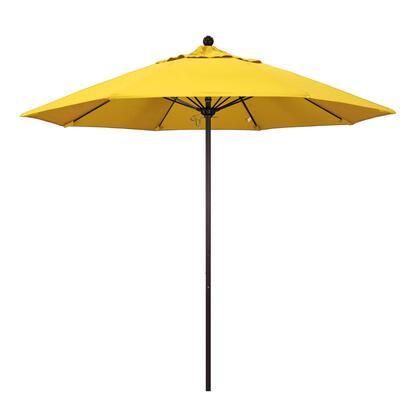 ALTO908117-F25 9' Venture Series Commercial Patio Umbrella With Bronze Aluminum Pole Fiberglass Ribs Push Lift With Olefin Lemon