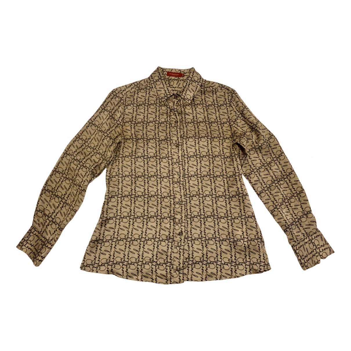 Burberry - Top   pour femme en soie - multicolore