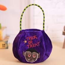1 Stueck Suessigkeitentasche mit Halloween Karikatur Grafik