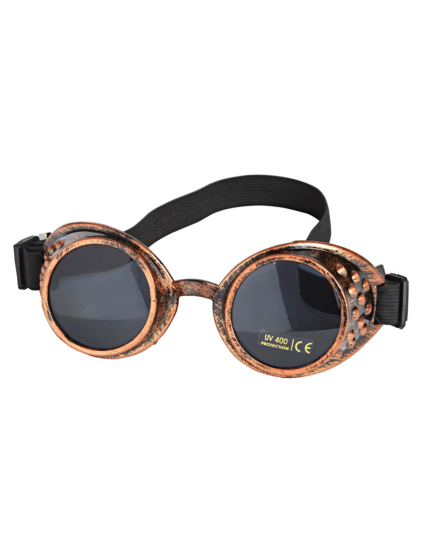 Kostuemzubehor Brille Steampunk kupfer