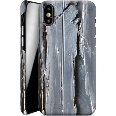 Apple iPhone XS Smartphone Huelle - Wood Black Fence von Brent Williams