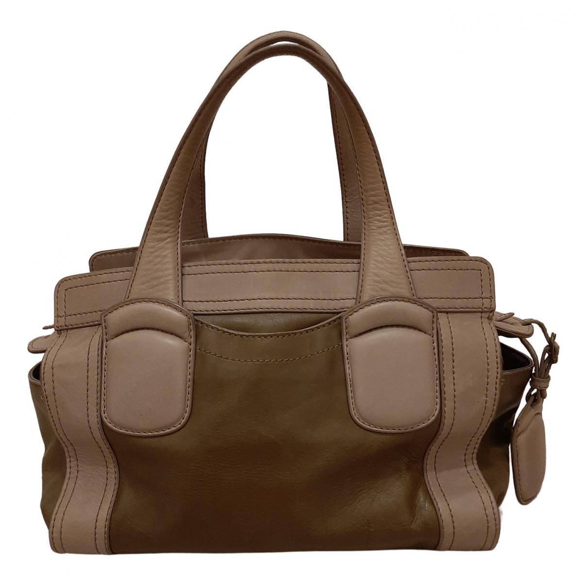 Max Mara Weekend \N Handtasche in  Khaki Leder