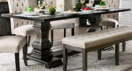 Nerissa Collection CM3840T-TABLE Dining Table in Antique