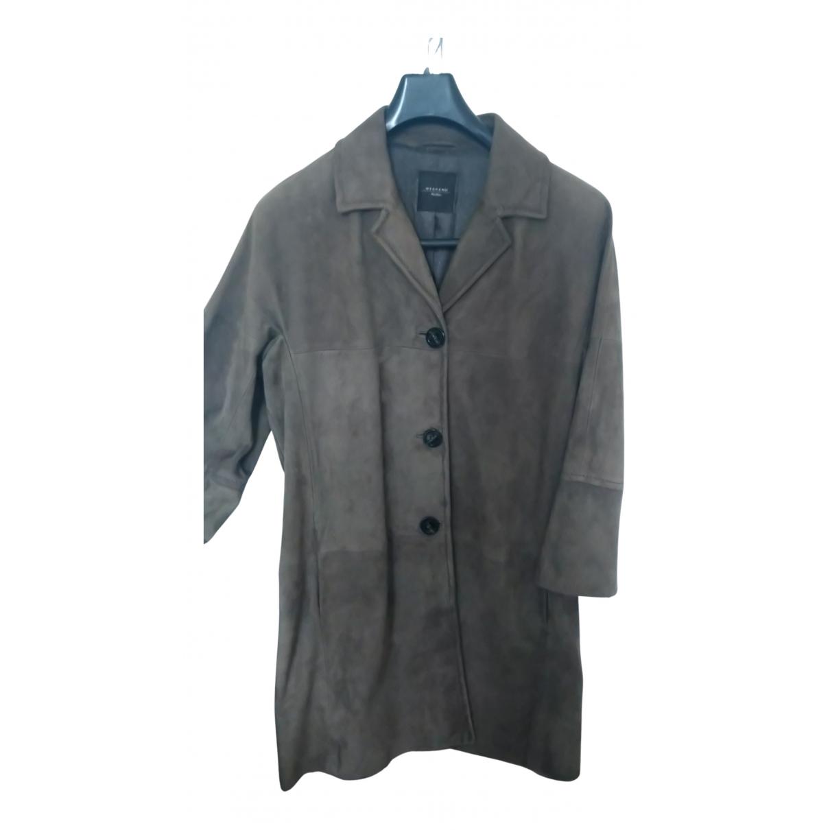Max Mara Weekend N Green Suede coat for Women 40 FR