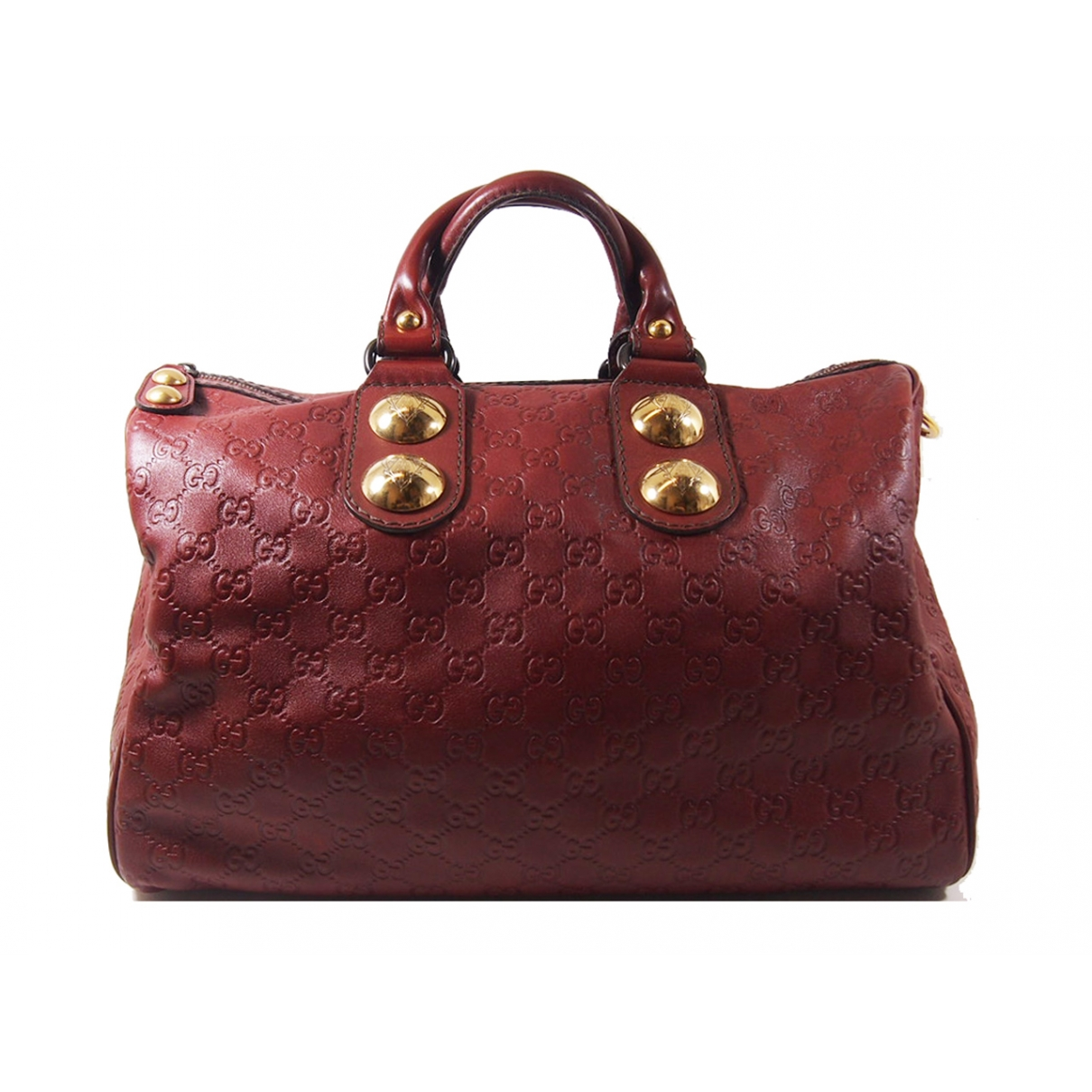 Gucci \N Handtasche in  Bordeauxrot Leder