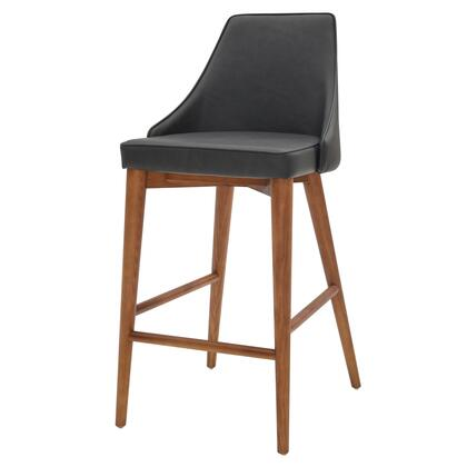 448628P-758-W Erin PU Leather Counter Stool  in Antique