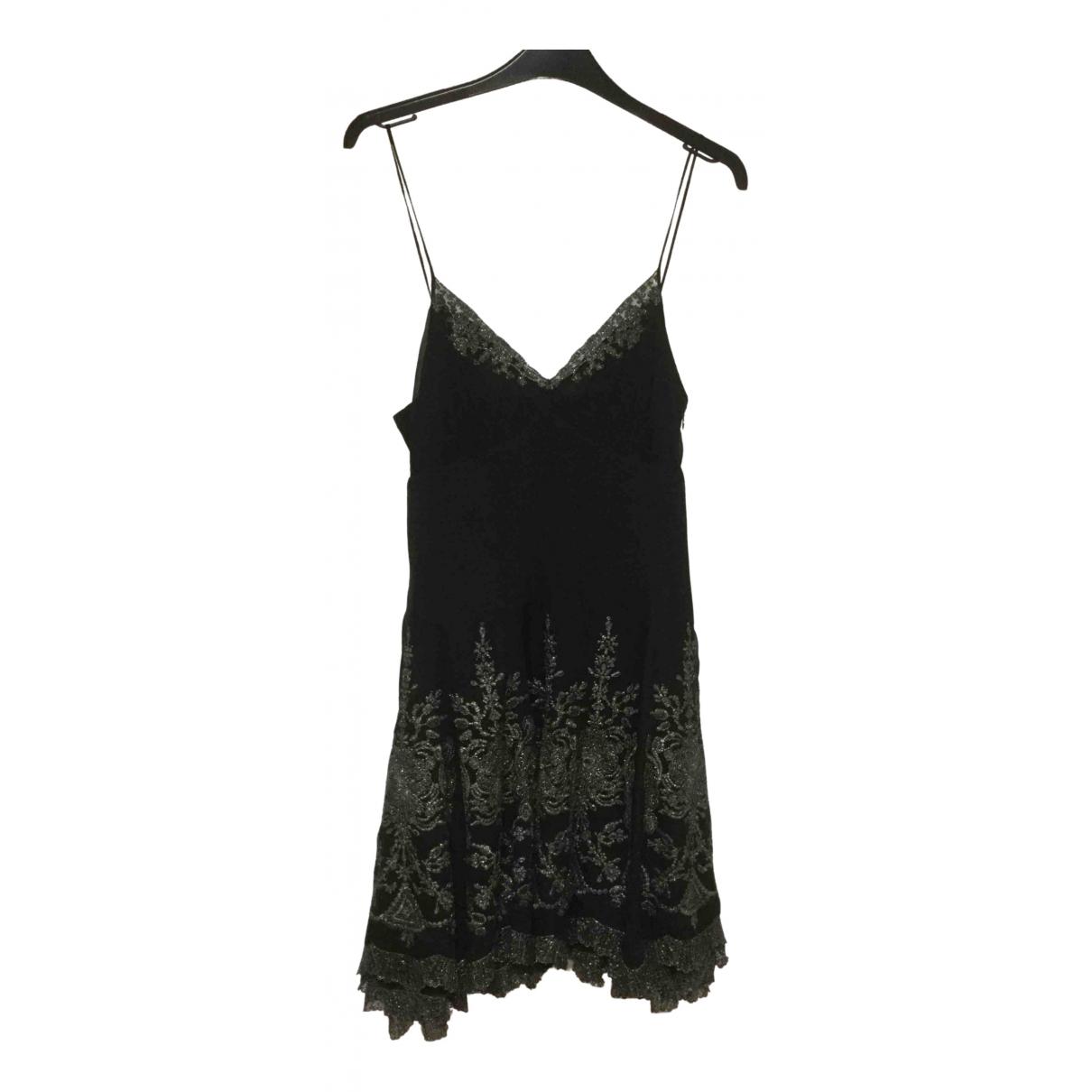Karen Millen \N Black Silk dress for Women 12 UK