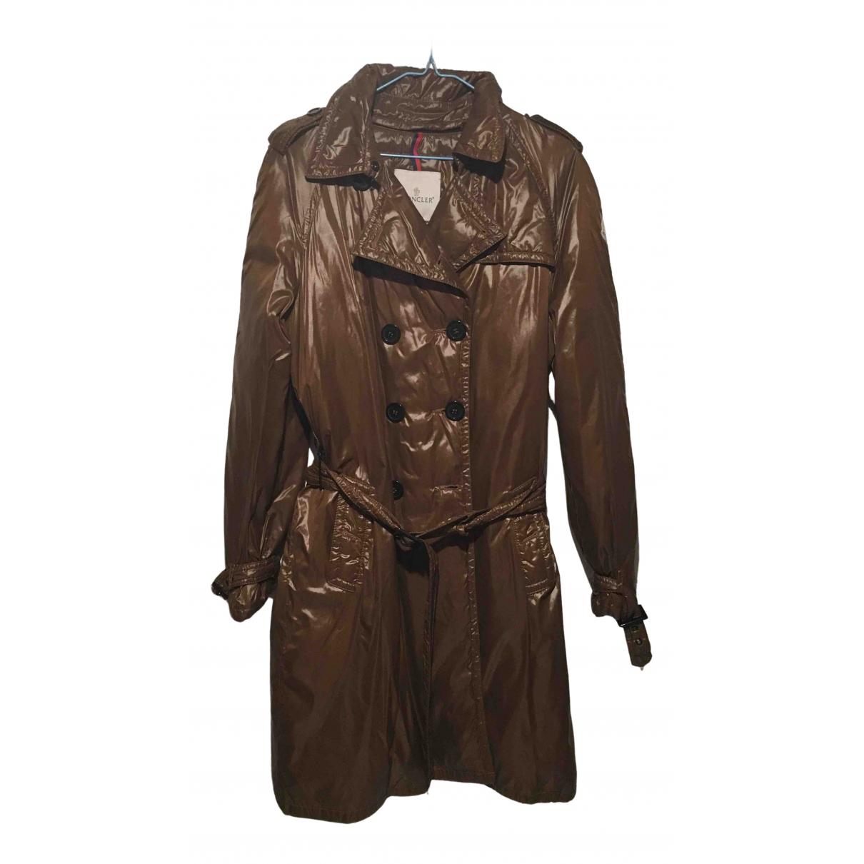 Moncler Long Brown coat for Women 48 IT