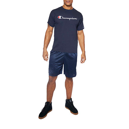 Champion-Big and Tall Mens Crew Neck Short Sleeve T-Shirt, 3x-large Tall , Blue