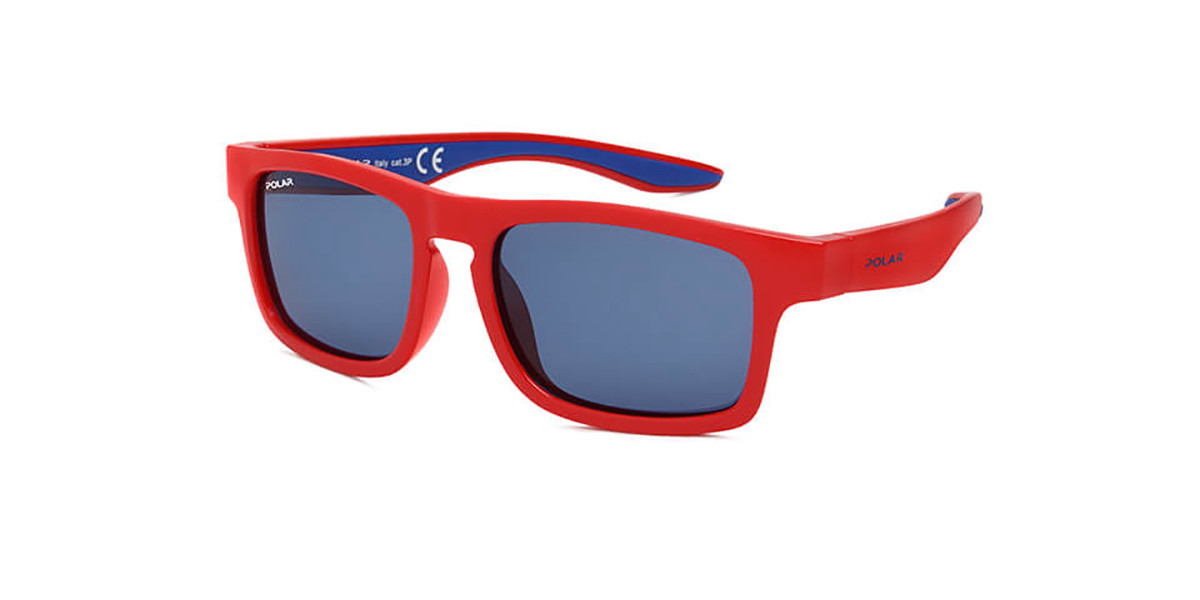 Polar PL 5003 Kids Polarized 22 Kids' Sunglasses Red Size 47