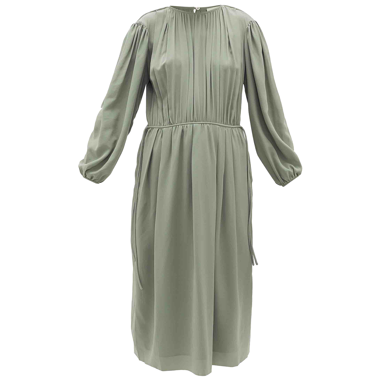 Lemaire \N Khaki Silk dress for Women 34 FR
